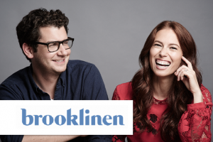 Photo and logo of Brooklinen