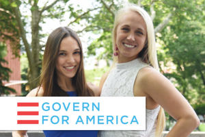 Photo and logo of Govern for America
