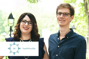 Photo and logo of HealthHuddle