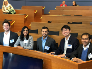 (Left to Right) Ugercan, Supriya, VInay, Larry, and Rahul await to present their analysis of the startups to the panel of VCs.