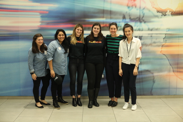 Image of all female-founding teams at the pitch competition during the 2018 Entrepreneurs Festival.