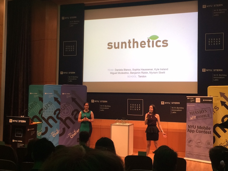 Image of Sunthetics team at the $300K Challenge.