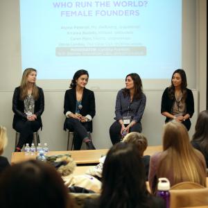 Photo of women's panel during the NYU Entrepreneurs Festival