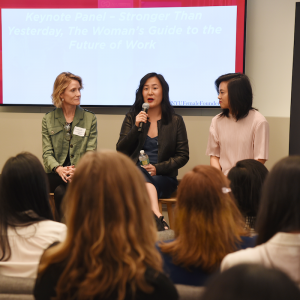 Photo of panelists durinf female founders symposium