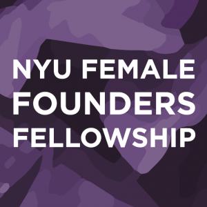 NYU Female Founders Fellowship logo.