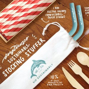 Picture of sustainable straws and cutlery by Seastraws.