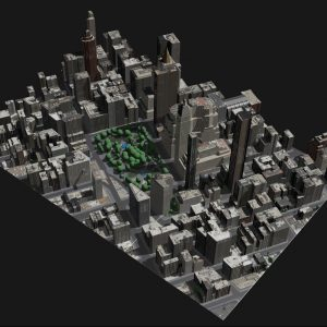 Image of the digital city models created using Geopipe software