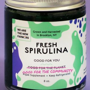 Photo of the jar of Spirulina from We Are The New Farmers