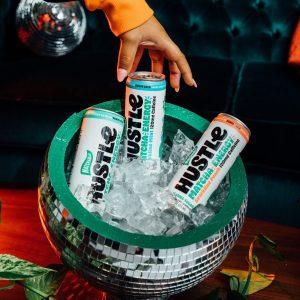 Matchabar cans of hustle matcha energy drinks
