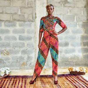 Woman wearing House of Irawo jumpsuit