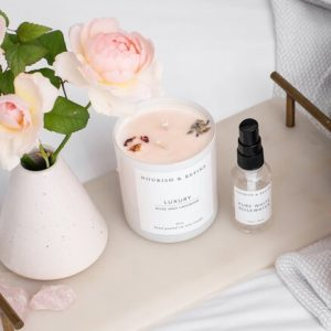 Nourish and Refine candle and oil.