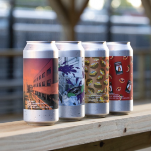 four different beer flavors by other half brewing