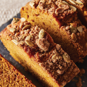 delicious pumpkin bread with seeds by Ovenly