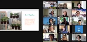 Screenshot of Grow Together's presentation